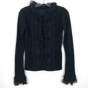 Elie Tahari Wool Lace Shirt